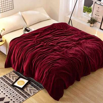 Cosy Soft Warm Fleece Blanket 150*203 Cm- Maroon image 2