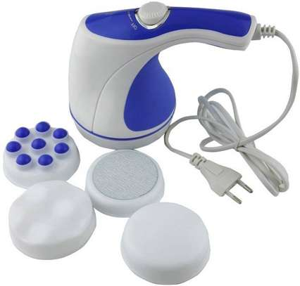 Relax & Tone Full Body Sculptor Massager - Relax & Spin - Tone Slimmer - White & Blue image 2
