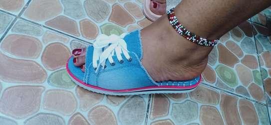 Ladies unique open shoes image 2
