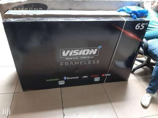Vision 65 inches Frameless Android Smart UHD-4K Digital TVs image 1