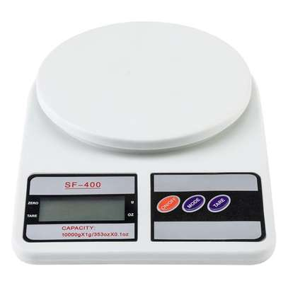 SF-400 10KG / 1g Kitchen Mail LCD Digital Scale White image 1