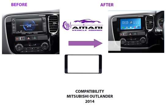 Double Din Car Radio Fascia Console For 2014 Mitsubishi Outlander. image 1