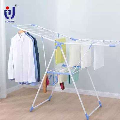 outdoor cloth hanging rack image 1