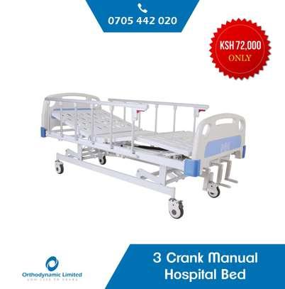 1 Crank Manual Hospital Bed  - single fold / function image 2