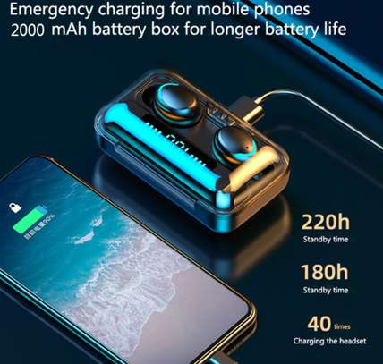 Waterproof Wireless Earbuds With Charging Case for Phones image 3