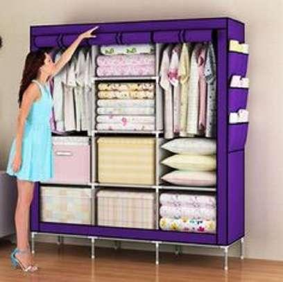 purple wooden wardrobe image 1