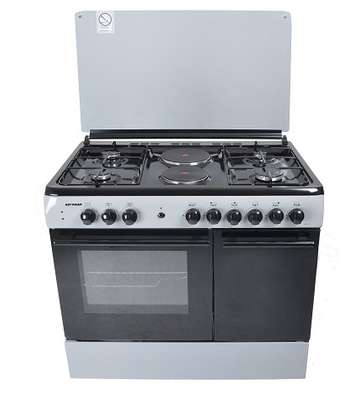 Von Hotpoint 8422SLV 4 Gas + 2 Electric Cooker - Silver image 3