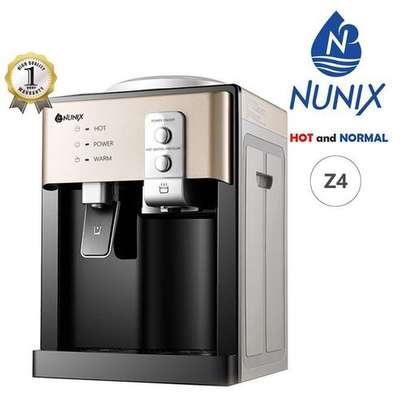 SHARE THIS PRODUCT   Nunix Hot And Cold Water Dispenser - Black And Grey image 1