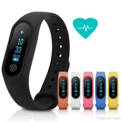 M2 Plus Smart Bluetooth Bracelet Fitness Tracker Band With Steep Counter Heart Rate Monitor Waterproof  for Android IOS image 1