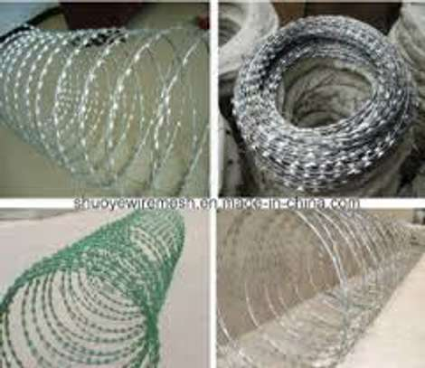 double galvanized green razor wire supplier and installer in kenya image 1