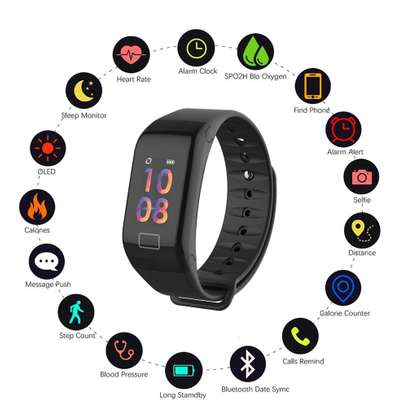 Fitness Tracker, Activity Watch for Heart Rate Monitor Oxygen Blood Pressure iphone Android Step Sleep Calorie Counter Pedometer, IP67 Waterproof Color Screen Smart Band for Kids Women Men