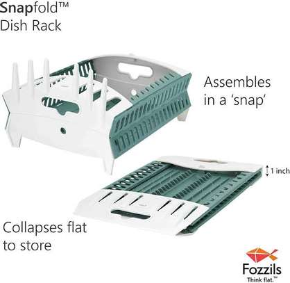Collapsible dish rack image 4