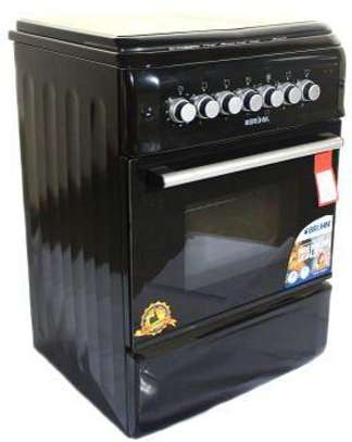 Bruhm BGI-55M31ORBN 3 Gas + 1 Hot Plate Cooker Free Standing image 1