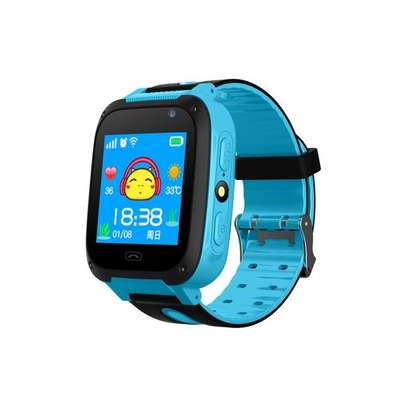 Kids Smart Watch GPS Tracker Anti Lost Monitor SOS Call Camera Phone-Blue