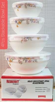 4 pcs stackable Bowls image 1
