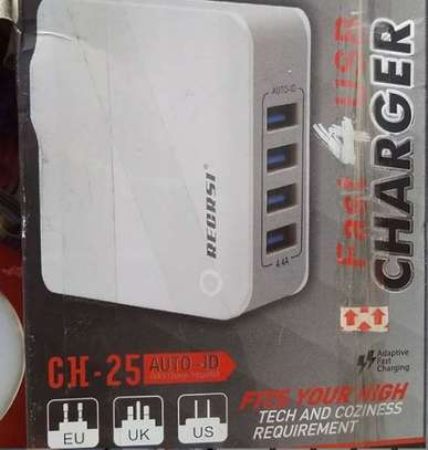 4 ports usb hub port adapter charger