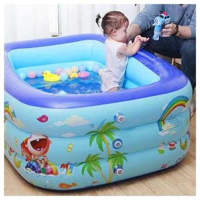 Inflatable kids swimming pool image 1