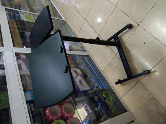 Moveable Sit Stand Adjustable Laptop Table image 2