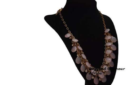 Ladies Statement Classic Crystal Necklace image 1