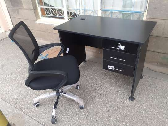 Office Desk 1Meter Black & Chair Ksh. 12,500.00 With Free Delivery image 7