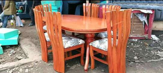 6-seater peacock dining table image 1