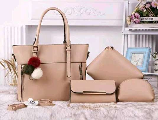 4 in 1 Pure Leather Handbags