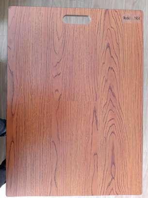 Laminated wooden floor tiles image 3