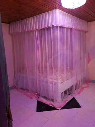 Brand new custom made Rail shears mosquito nets sliding like curtains fixed on the ceiling image 9