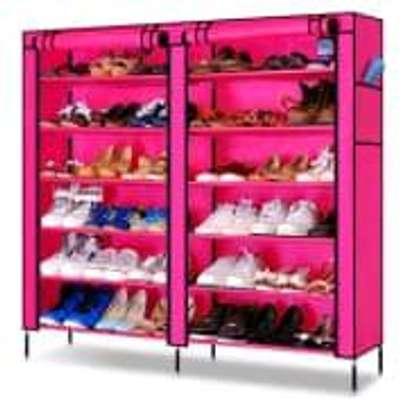 metallic shoe rack image 1