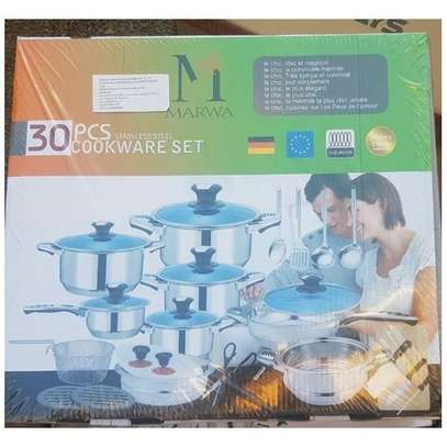 Marwa German Life 30pcs Stainless Cookware Set image 1