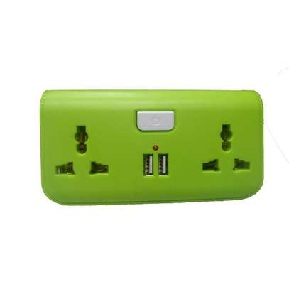 USB Way Socket Extension Cable - Green image 1