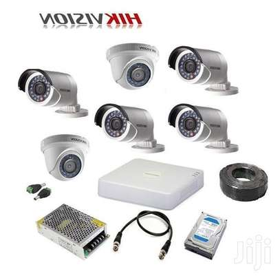 6 HD CCTV Camera  Installation Kit (with Night Vision + 1TB Storage + 100m Cable) image 3