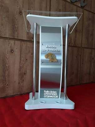 Glass podiums image 1