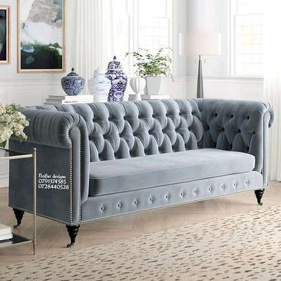 Modern three seater sofa/tufted sofas image 1