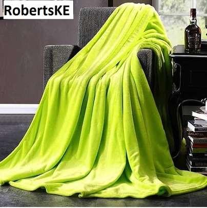 lime green fleece blanket image 1