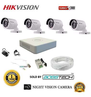 4 CCTV 720P CAMERA COMPLETE SET -(With Night Vision) image 3