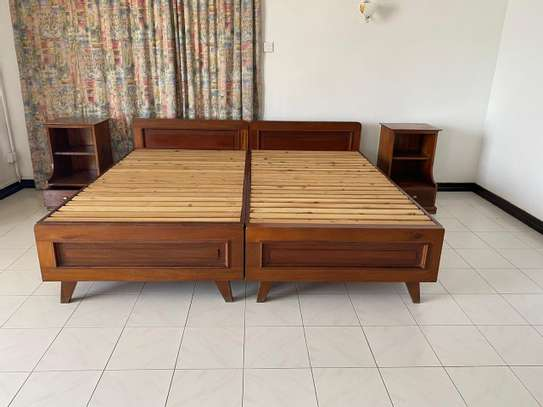 Super KING Size Bed With 2 Night Stands image 1