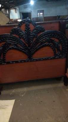 Hardwood engraved beds image 1