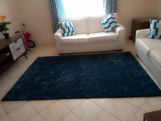Navy Blue Soft Carpet 5*8 image 1