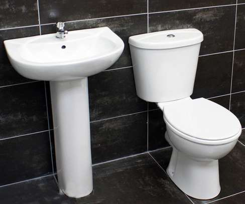 Complete Closed Couple (Toilet+Sink+Pedestal) image 1