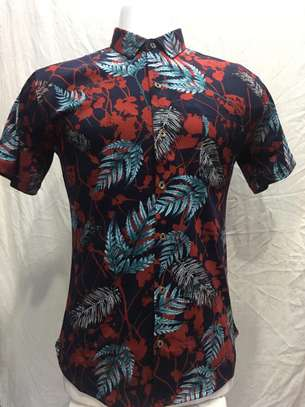Men's Slim-fit Short Sleeve Tropical Hawaiian Shirt