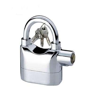 Hardened Alarm Security Padlock - Silver image 1
