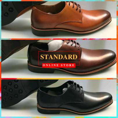 Men's Official Italian Leather Shoes with rubber sole image 10