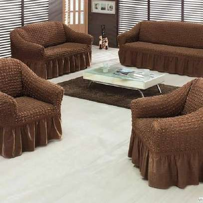Sofa covers 7 sitter chocolate brown image 1