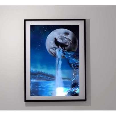 WOLF FRAMED ART image 1