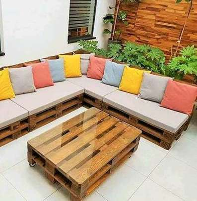 Beautiful Simple Quality L-Shaped Pallet Sofa image 2