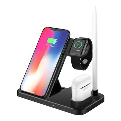 4 in 1 Qi Wireless Charger Charging Holder Stand for Apple iPhones,airpods,iPencil and iwatches 1,2,3,4,5 image 2