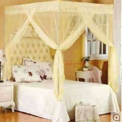 Mosquito Net with Metallic Stand 6 by 6 - Cream image 1