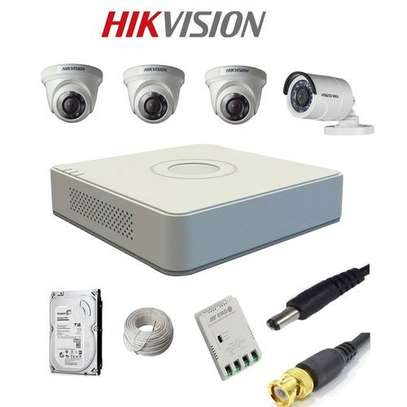 Hikvision 4 Camera CCTV 2 Bullet 2 Dome 20m IR With Night image 1