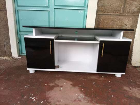 Hot black and white tv stand 609q image 1